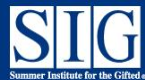 Summer Institute for the Gifted - UCLA